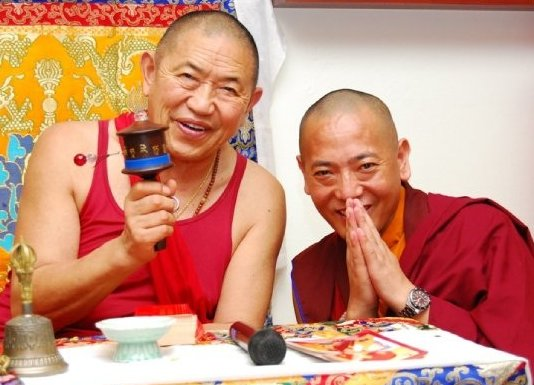 His Eminence Garchen Rinpoche and Venerable Dorzin Dhondrup Rinpoche